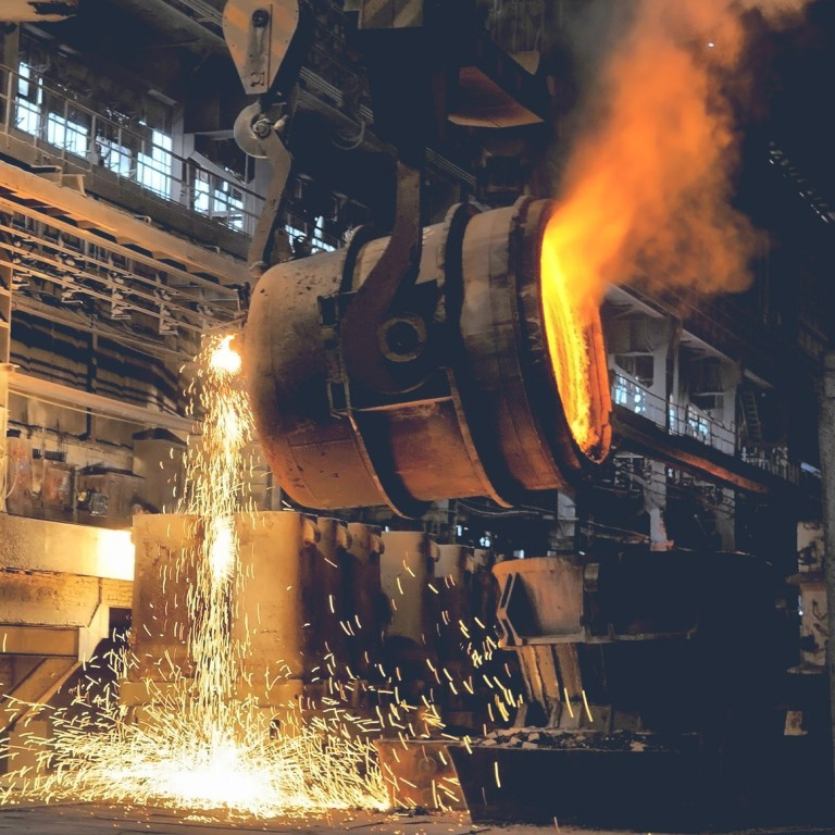 Metal works in the heavy industry